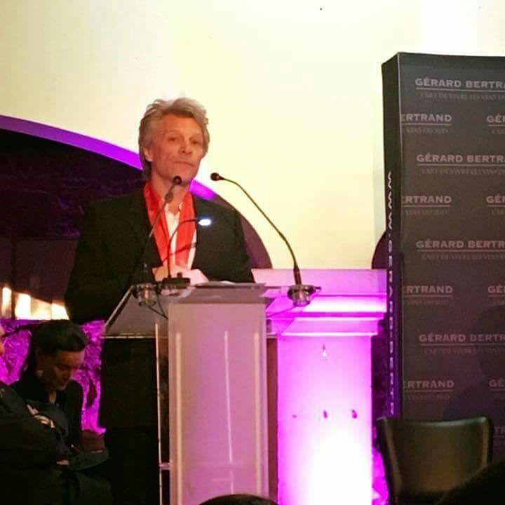 Jon Bon Jovi na gali Gérarda Bertranda